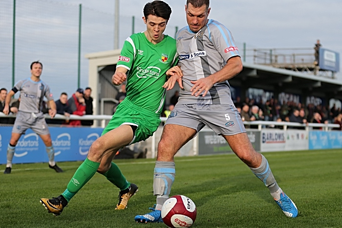 Joe Malkin challenges for the ball (1)