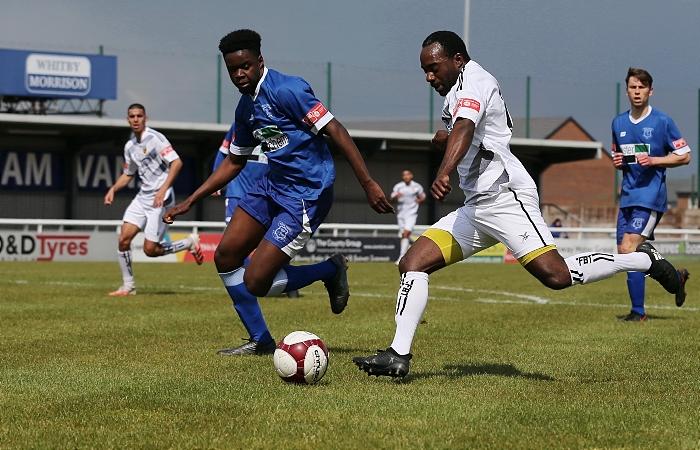 Joe Mwasile prepares to cross the ball (1)
