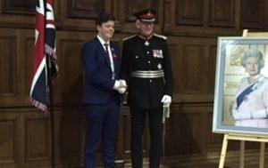 Joe Rowlands and Lord lieutenant