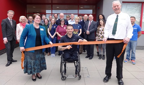 Ex Marine Joe Townsend reopens new-look £1.4m Nantwich Pool