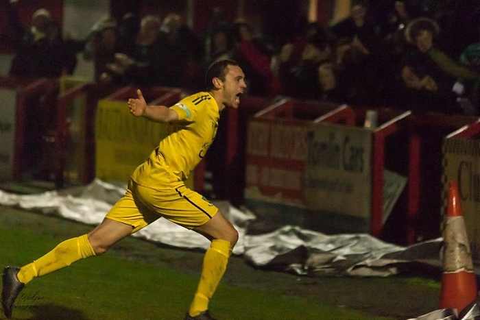 Joel Stair winner against Witton - by Martyn Wilson