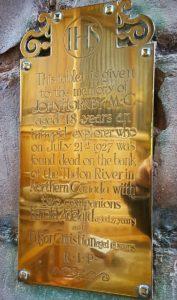 John Hornby memorial