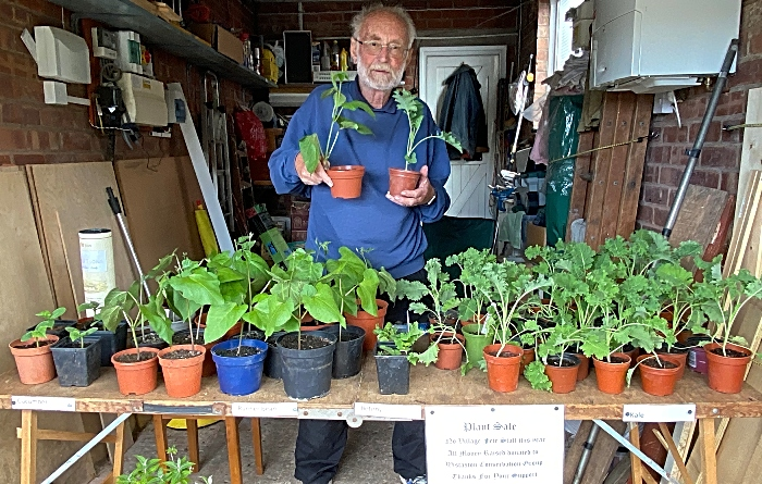 John Wood at his Wistaston Conservation Group plant sale (1)