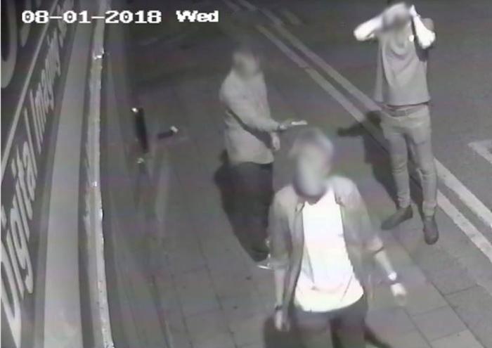 Johnsons Printers - CCTV pics of vandals attacking shop