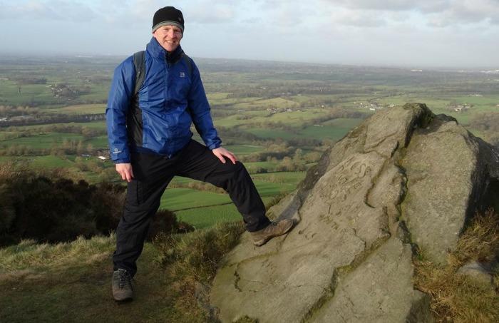 Jonathan White at The Cloud near Congleton Cheshire