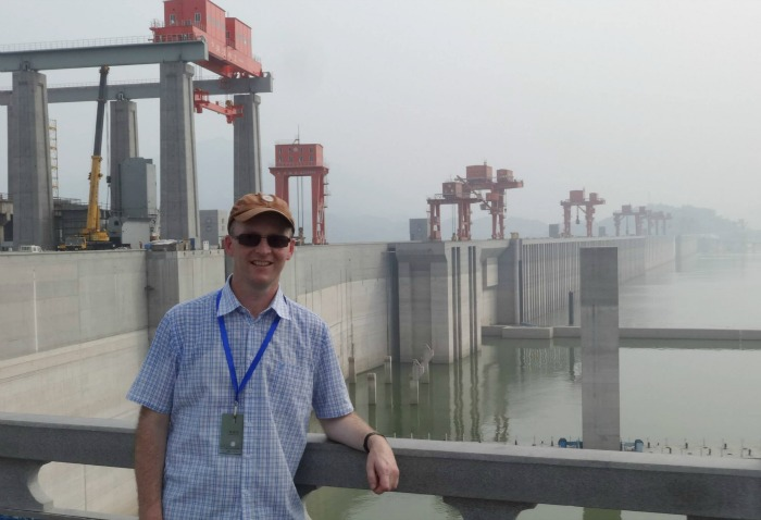 Jonathan White at the Three Gorges Dam project in China