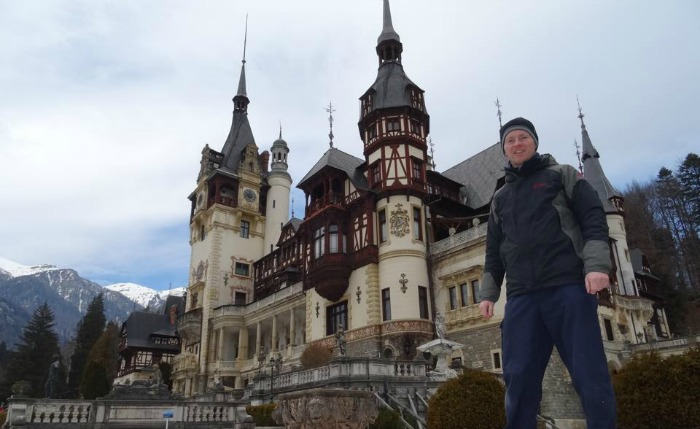 Jonathan White in Transylvania Romania, winner of TripAdvisor competition
