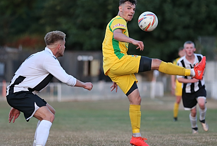 Jordan Davies eyes the ball (1)