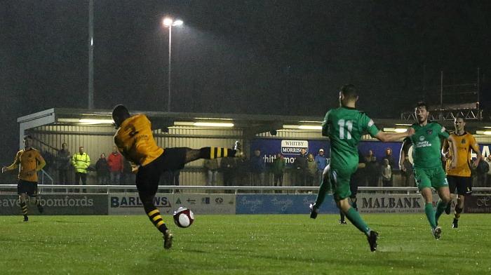 Jordan Davies scores for Nantwich v Marine