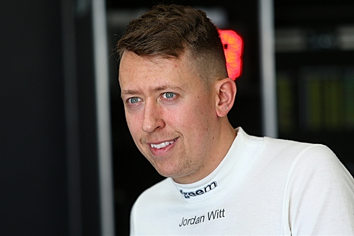 British GT Jordan Witt - GT3 racing driver from Nantwich