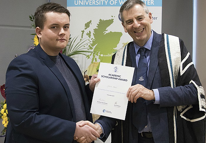 Joshua Ollier and university of worcester scholarship