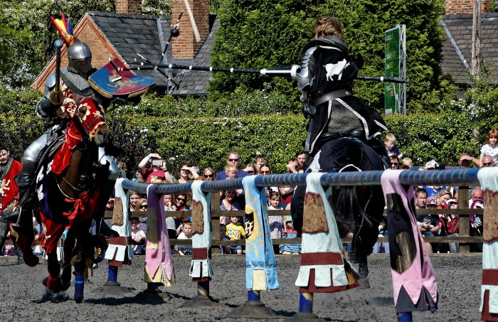 Family Festival - Jousting challenge Knights of Middle England PIC ROY GADSDEN
