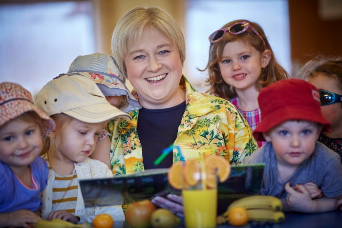 Julie and children at Sounds Active Nursery