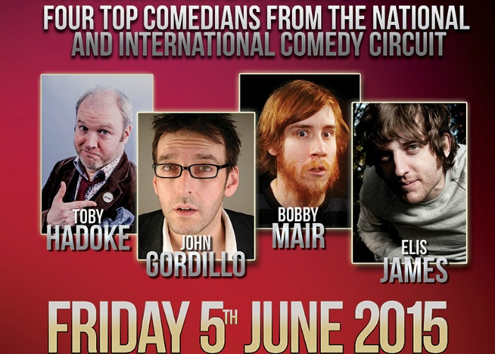 Bobby Mair on June 2015 comedy stand up at Nantwich Civic Hall