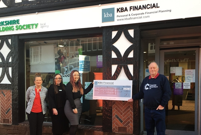 KBA planning hand cheque to Cancer Research