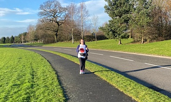Karen Delay walking at Wychwood Park (1)