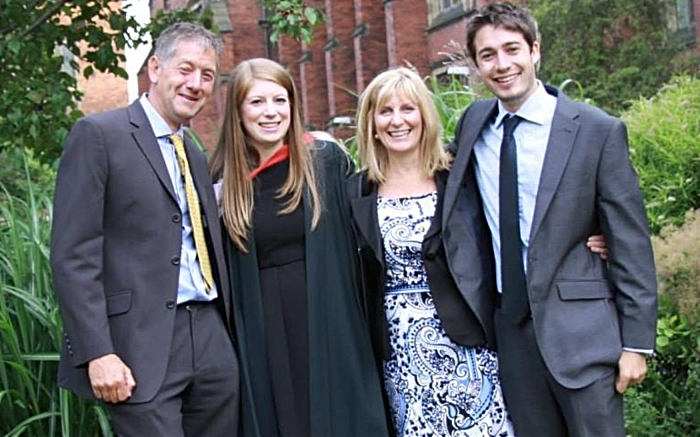 Katy Sutcliffe with dad and family
