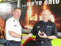 Nantwich fireman picks up long service medal