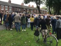 Hundreds at Barony Park protest as Cabinet councillor banned from 'communicating'