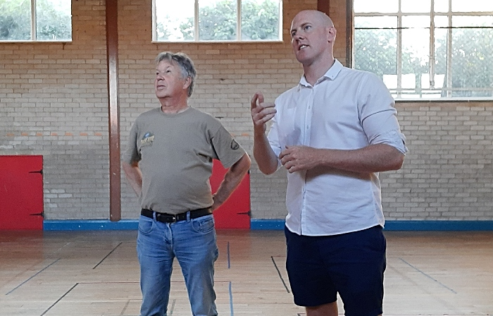 youth club - Kieran with Trustee Graham Fenton at the centre in August (1)