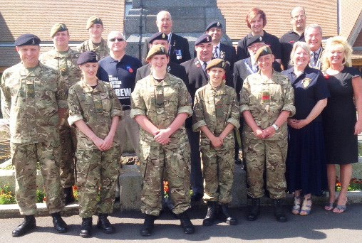 King's Shilling Walk launch by Nantwich and Crewe Royal British Legion branches
