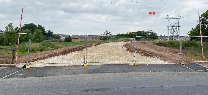 Kingsbourne spine road at Reaseheath Roundabout (2) (1)
