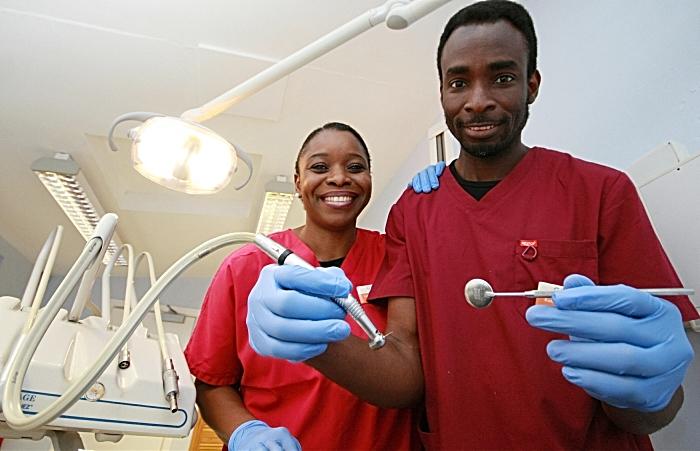 Kolade and Yetunde Orungbemi at The Globe Dental Practice on Beam Street