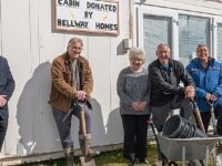 Wistaston Allotments benefit from builder's sales cabin donation