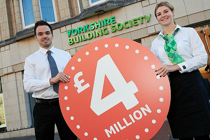L-R Yorkshire Building Society colleagues Adam Waterfall and Katie Wood