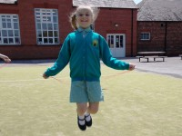 Nantwich pupils and staff skipping to British Heart Foundation beat