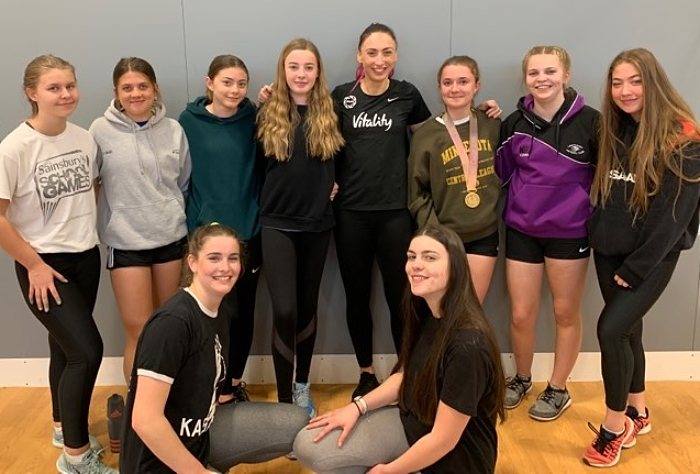 Ladyhawks netball Juniors 2 with Jade Clark