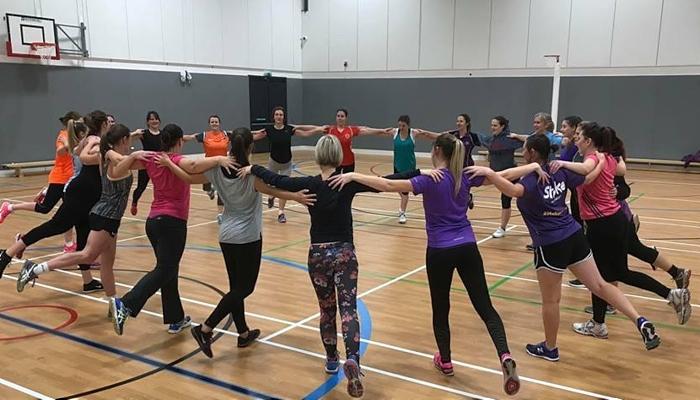 Ladyhawks netball in training