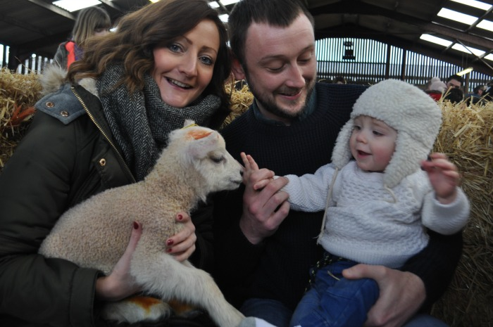 Lambing weekend - Archie 10 months with Mum Jess Evans and Dad Tim Gardside from Shavington