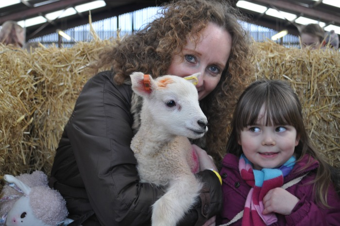 Lambing weekend - Becky (Mum) and Elizabeth (3) Buchanan from Wistaston