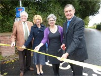 Councillors unveil new lane for Wingate Children's Centre in Wrenbury