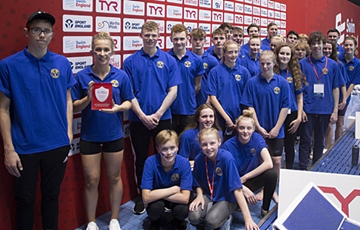 Laura Kirby (far right) with Cheshire team at national event