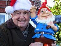 Vandalised garden gnomes in Wistaston are back home for Christmas