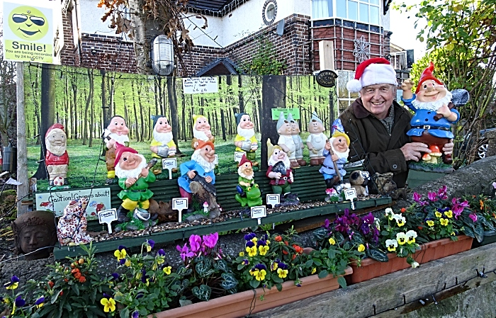 Laurence Perry and some of his gnomes