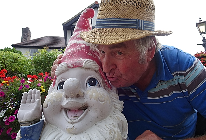Laurence Perry with a kindly donated 4ft gnome (2) (1)