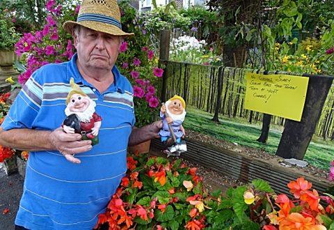Villagers support devastated Wistaston pensioner after vandals destroy gnomes