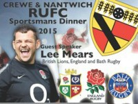 England star Lee Mears guest at Crewe & Nantwich RUFC dinner