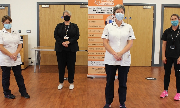 Left to right Tiffany Treharne- Respiratory Physiotherapist, Donna Williamson- Senior Manager Health Innovation Everybody Sport and Recreation, Jane Wilmer- British Lung Foundation Advance (1)