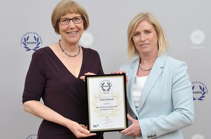 Leighton Hospital MCHFT health and safety award