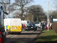 Long delays after road accident outside Leighton Hospital