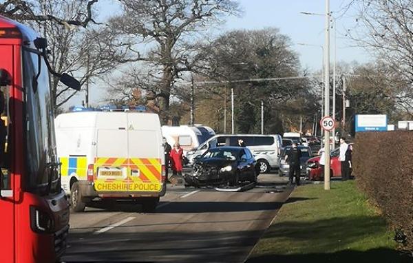 Leighton Hospital road crash