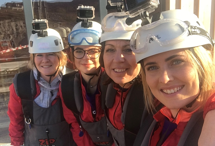 Leighton pancreatic cancer support group took on the World's Fastest Zipline 3