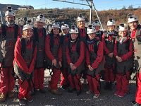 Leighton pancreatic cancer group's zip wire fundraiser