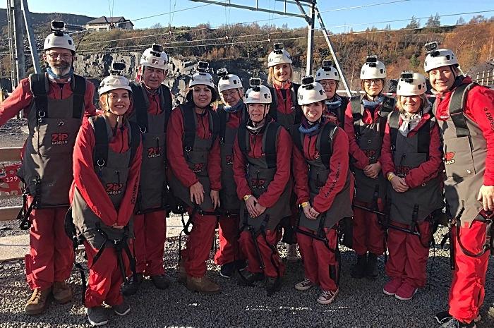 Leighton pancreatic cancer support group took on the World's Fastest Zipline 4