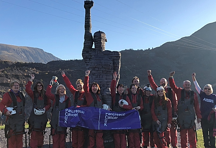 Leighton pancreatic cancer support group took on the World's Fastest Zipline 5