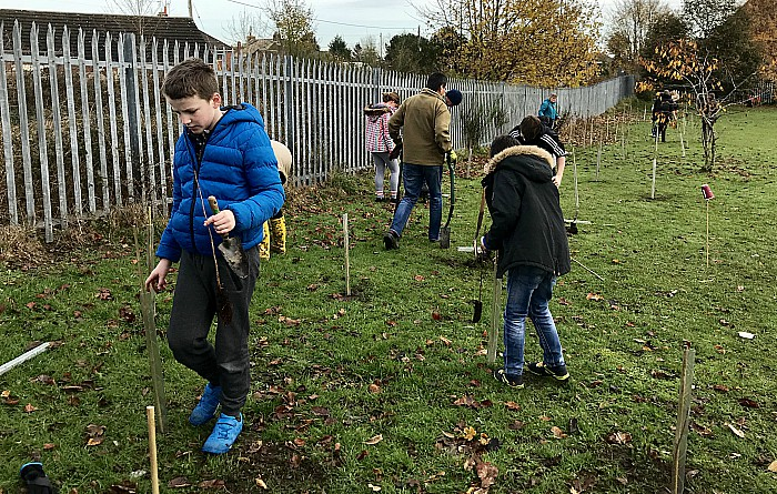 Lettie Spencer tree planting in willaston